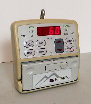 Heska VET/IV 2.2 Infusion Pump w/ Battery And Power Cord Patient Ready