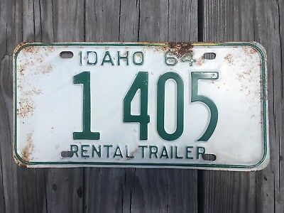 1964 Idaho Rental Trailer License Plate