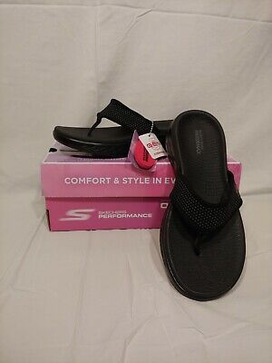 cd6d5aaf Skechers Sandals Performance Women's on the Go 600 Flip Flop Womens 7 black