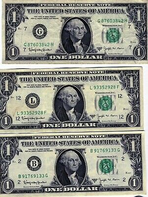 FIVEDollar Bill Federal Reserve Note Signed by Joseph W Barr Circulated