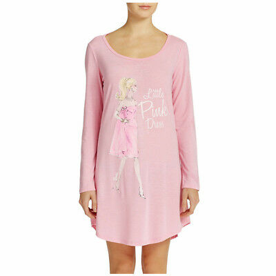 Mattel Barbie Collector Adult Pink Nightgown Sleep Shirt Movie Mixer Graphic NWT