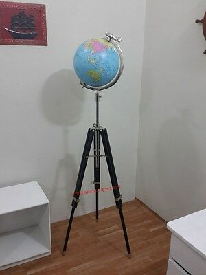 "Vintage Diameter 12 "" World Classic Series World Globes Authentic Maps On Tripod"
