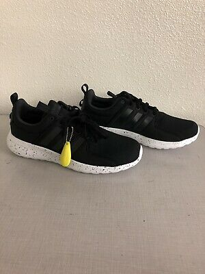 MEN ADIDAS CLOUDFOAM Lite Racer Lace Up Sneaker Shoes Black/White DB0594  Size 10