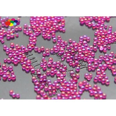 Dark rose red AB 100000Pcs Glass small Beads No Hole 0.6mm-0.8mm Nail Art Caviar