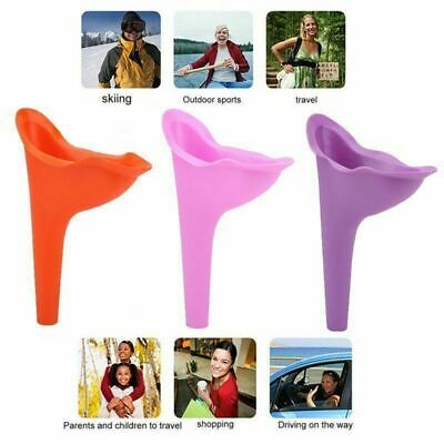 2Pcs Portable Urinal Funnel Female Rubber Flexible Wee She Relieve Urinating Cup