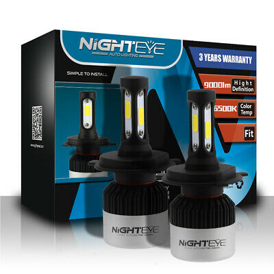 Novsight Pair H4 72W 9000LM Auto LED Headlight Bulbs High-Low Beam White 6500K