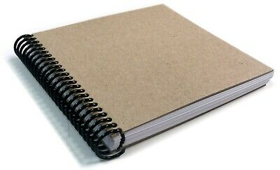 KRAFT DIY Spiral Book 100 pages 6x6 Scrapbook Photo Album Art Journal Wedding