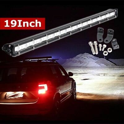 19 inch 54W Slim LED Work Light Bar Spot Car Off-Road Driving SUV Jeep Offroad