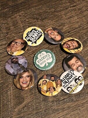 its always sunny in philadelphia 1.25 Inch Pinback Button Set Of 10
