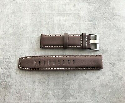 Genuine Timex 22mm Brown Leather Strap Fit's T2P287 T2N725 & T49819 No 1522