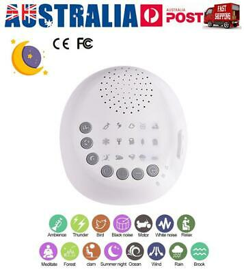 White Noise Sound Machine Deep Sleep Therapy Relaxation Adults Baby Nature Sound