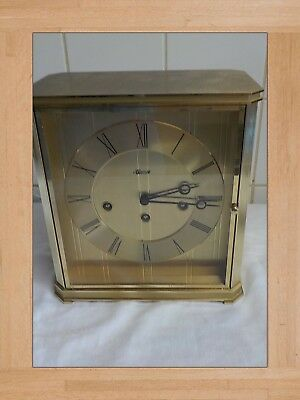 hermle mantel clock vintage brass clock great condition not working