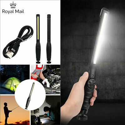 COB LED Work Light Hand Flashlight Torch Inspection Magnetic Lamp RechargeableUK