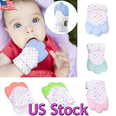 1pcs Food Grade Silicone Baby Teether Toys Teething Mitten Molar Gloves Gifts