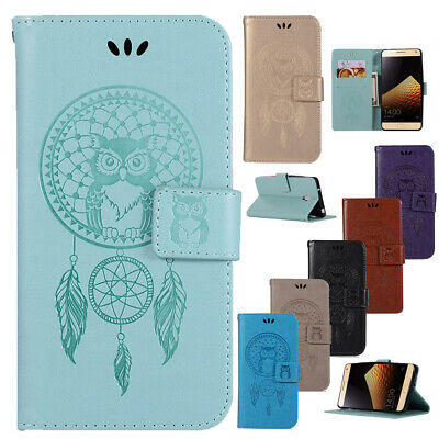 For Lenovo Vibe P1/P2/K5 Note Owl Card Holder Wallet Flip Leather Case Cover