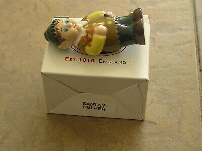 """An Attractive Wade """"santa's Helper"""" Figure 2001: 3"""" Tall: Vg Condition + Boxed"""