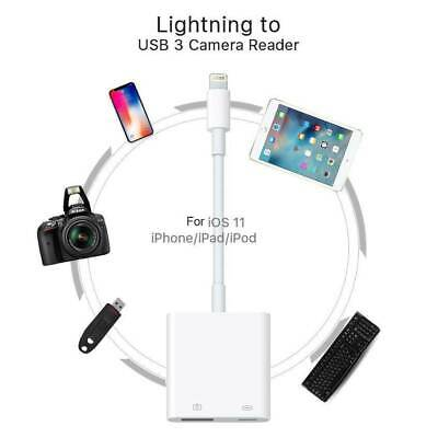 Original Lightning to USB 3 Camera Reader Cable Adapter for Apple iPhone 6 7 8 X