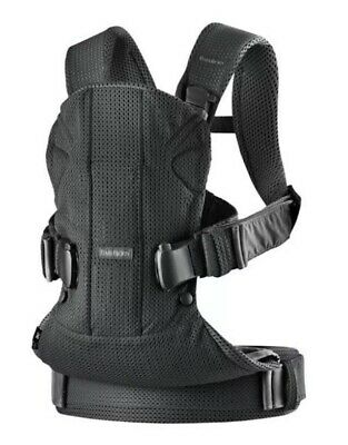 Baby Bjorn Carrier One Air Black (Newborn To 3 Years Old, 3 Positions)