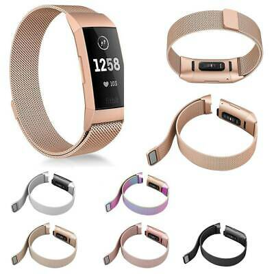 For Fitbit Charge 3 Stainless Replacement Wristband Watch Band Strap Bracelet