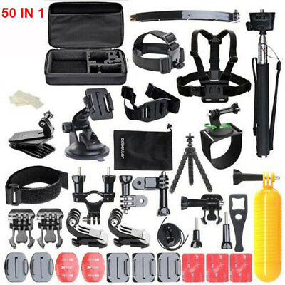 50 IN1 Sports Action Camera Accessories Set For GoPro Hero Video Mount Tripod UK