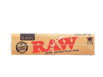 RAW KING SIZE CLASSIC ROLLING PAPER RIZLA - Buy 1 get a Pack Free