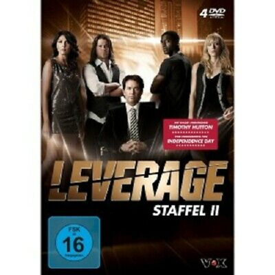 Leverage - Staffel 2 (Timothy Hutton/Gina Bellman/Christian Kane) 4 Dvd New