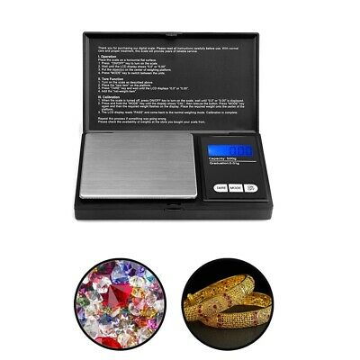 0.1g - 500g Mini Digital Pocket Weighing Scales Gold Kitchen Jewelry Scale Herbs