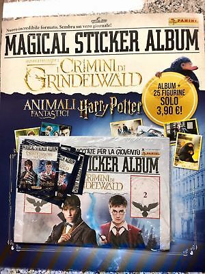 Magical Sticker Album - I Crimini Di Grindelwald Animali Fantastici Harry Potter
