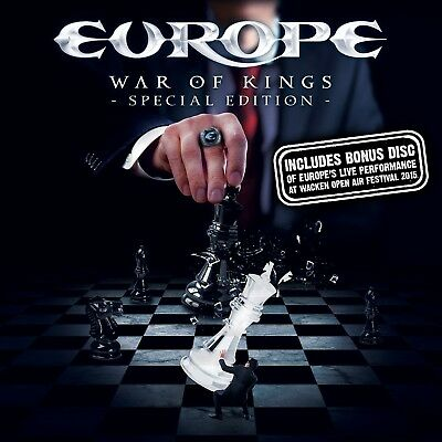 Europe - War Of Kings (Deluxe Special Edition) Cd + Blu-Ray + Dvd New