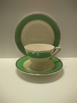 Royal Couldon Art Deco Trio, Cup, Saucer & Side Plate