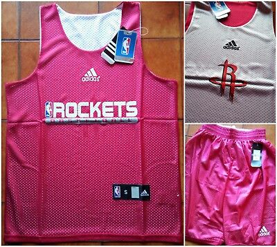 HOUSTON ROCKETS Completo TRAINING Double Side CANOTTA + SHORTS NBA  Traspirante 8b76a29005d5