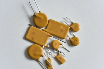 Resettable Poly Switch Fuse from 16v to 250v & .08a to 10A SOLD As Pairs!!