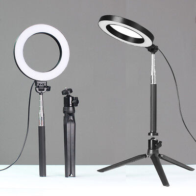 "6"" Dimmable LED SMD Ring Light with Stand for Makeup Phone Camera Selfie Live"
