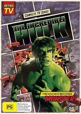 The Incredible Hulk - Complete Box Set | Seasons 1 - 5 (DVD, 2018, 24-Disc, R4)