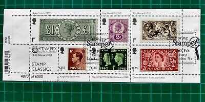 STAMPEX Overprint RPSL Anniversary 2019 Stamp Classics Miniature Sheet USED