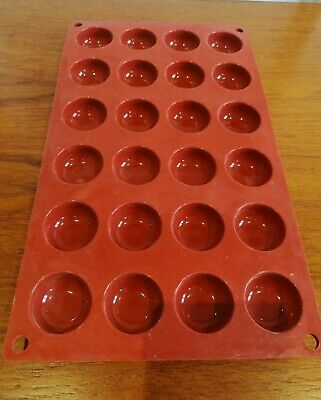 Pavoni Formaflex Silicone 24 Half Sphere Mould Oven Freezer and Dishwasher Safe