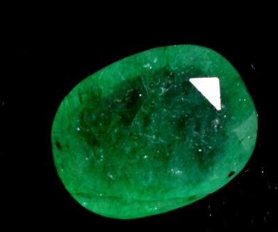 3.75 Ct Certified Natural Colombian Excellence Green Emerald Gemstone