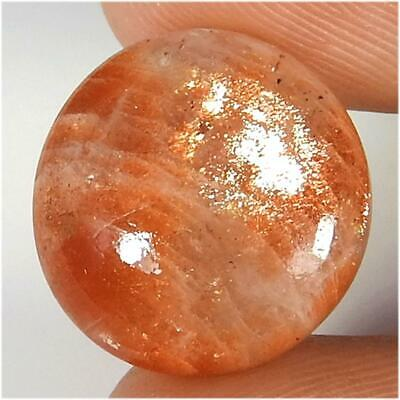 9.95Cts.Designer Red Sunstone Round Fire Loose Gemstone