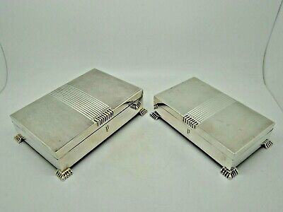 Antique Silver Pair of Table Boxes Birmingham 1954 – Charles S Green & Co Ltd