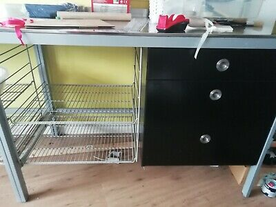 Ikea Freestanding Kitchen Unit In Stainless Steel