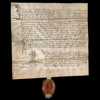 RARE Beautiful Vellum Scottish Deed dated 1474 AD relating to the Earl of Athol