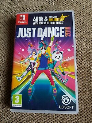 Just Dance 2018 nintendo switch game case only