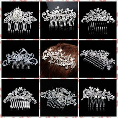 Pin Wedding Crystal Rhinestone Diamante Clip Hair Comb Hairpin Bridal Accessory
