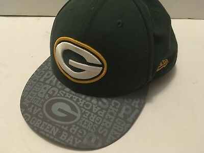 Green Bay Packers NFL New Era Polyester Fitted 59Fifty Cap Hat Size 7 1 2 fea1f813a
