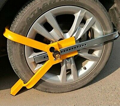 Wheel Lock Tire Clamp Auto Car Truck Trailer Parking Clamp Towing Tire Security