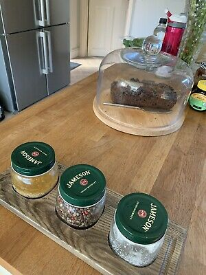 Jameson Whiskey Storage Jars - ideal for condiments.