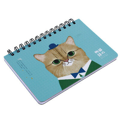 New Weekly Plan Notebook Cute Cat Schedule Stationery Daily Memo Planner LH