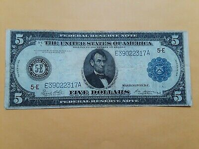 FR. 863a 1914 $5 FIVE DOLLARS FRN FEDERAL RESERVE NOTE RICHMOND, VA