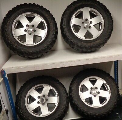 Jeep Wrangler JK 2007-17 4x 5 Spoke Wheels & Mud Terrain Tyres Set 275/65/R18
