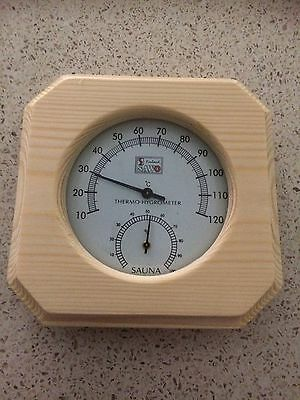 Natural  Pine Thermometer Hygrometer Dimension: 140mm x 140mm Special Saleprice